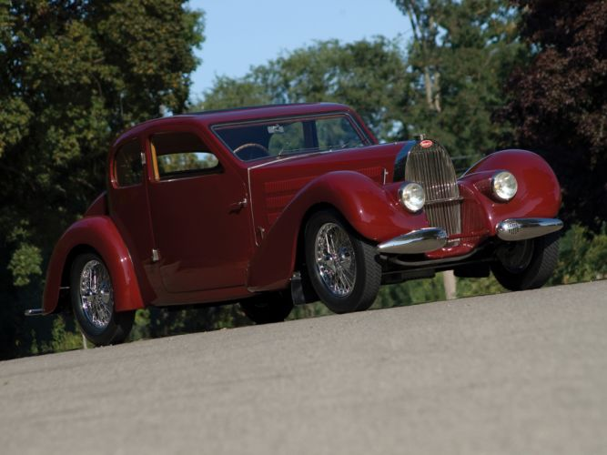 1939 Bugatti Type-57 Ventoux Coupe (Series-III) retro ye wallpaper