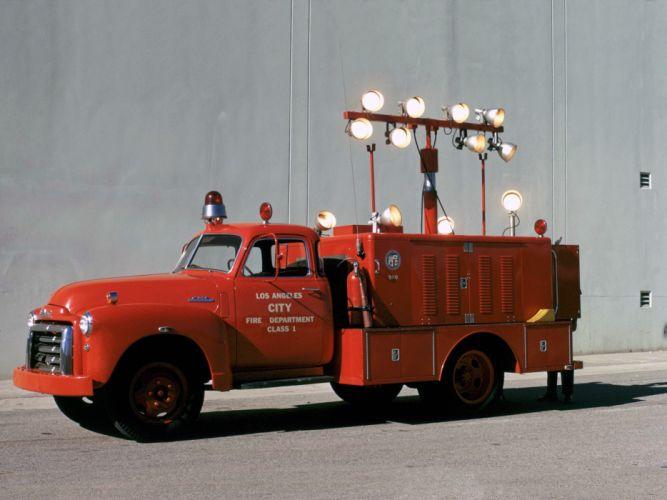1948 GMC 350 Firetruck emergency retro g wallpaper