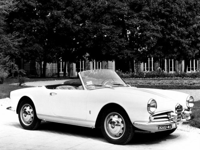 1956 Alfa Romeo Giulietta Spider retro f wallpaper