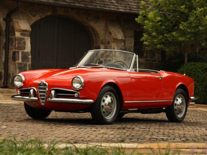 1956 Alfa Romeo Giulietta Spider retro fh wallpaper