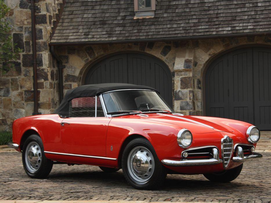 1956 Alfa Romeo Giulietta Spider retro   t wallpaper