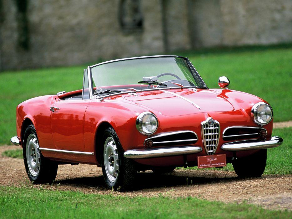 1956 Alfa Romeo Giulietta Spider retro  g wallpaper