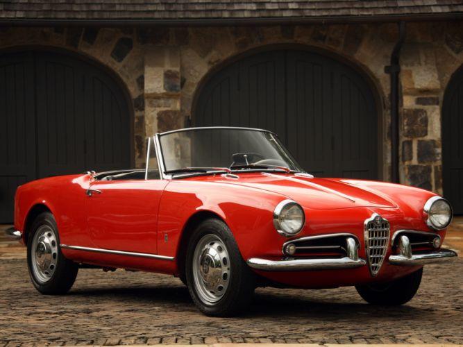 1956 Alfa Romeo Giulietta Spider retro gd wallpaper
