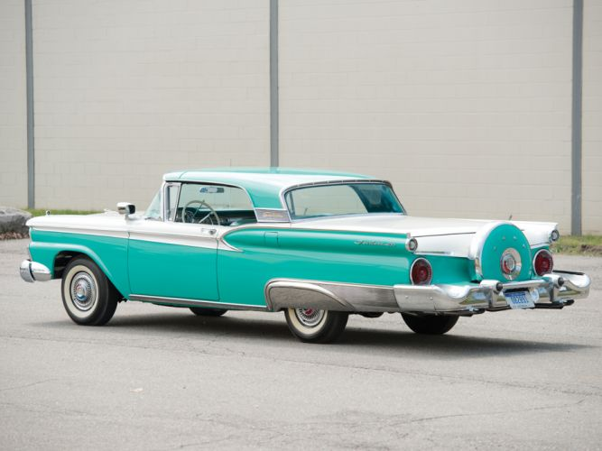 1959 Ford Fairlane 500 Skyliner Retractable Hardtop retro h wallpaper