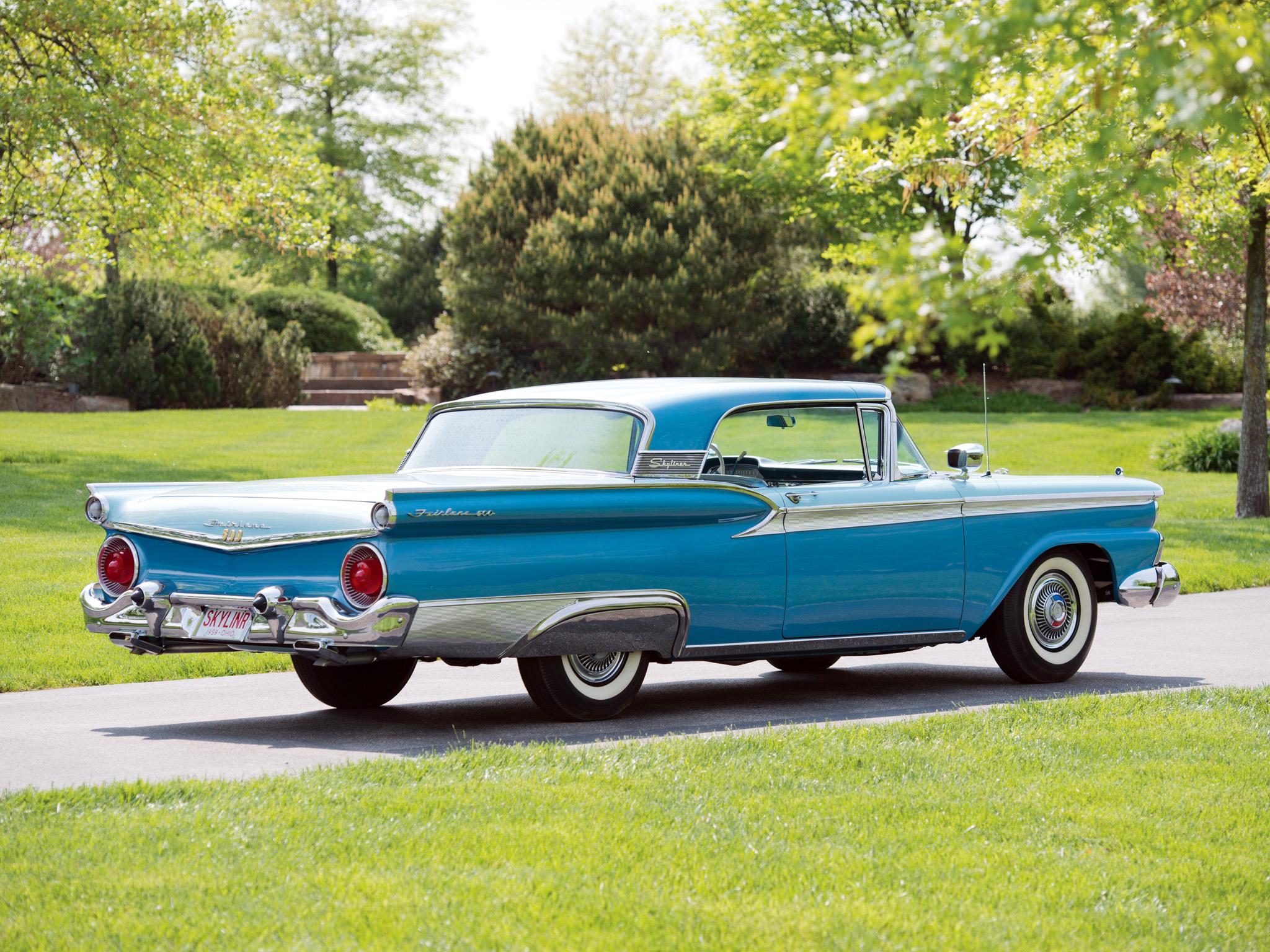 Ford F >> 1959 Ford Fairlane 500 Skyliner Retractable Hardtop retro r wallpaper | 2048x1536 | 180017 ...