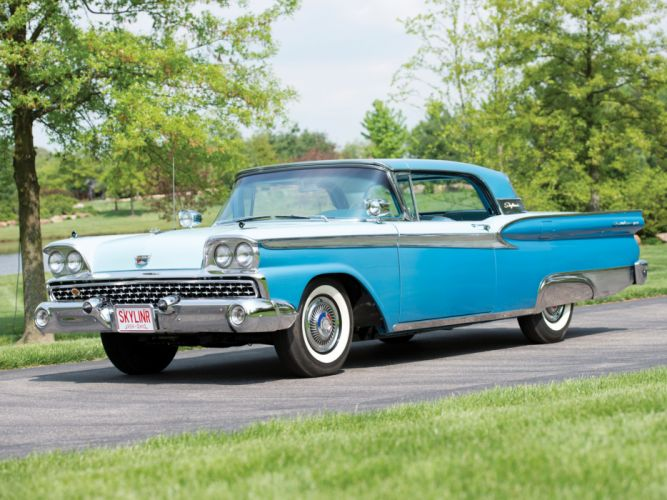 1959 Ford Fairlane 500 Skyliner Retractable Hardtop retro tw wallpaper