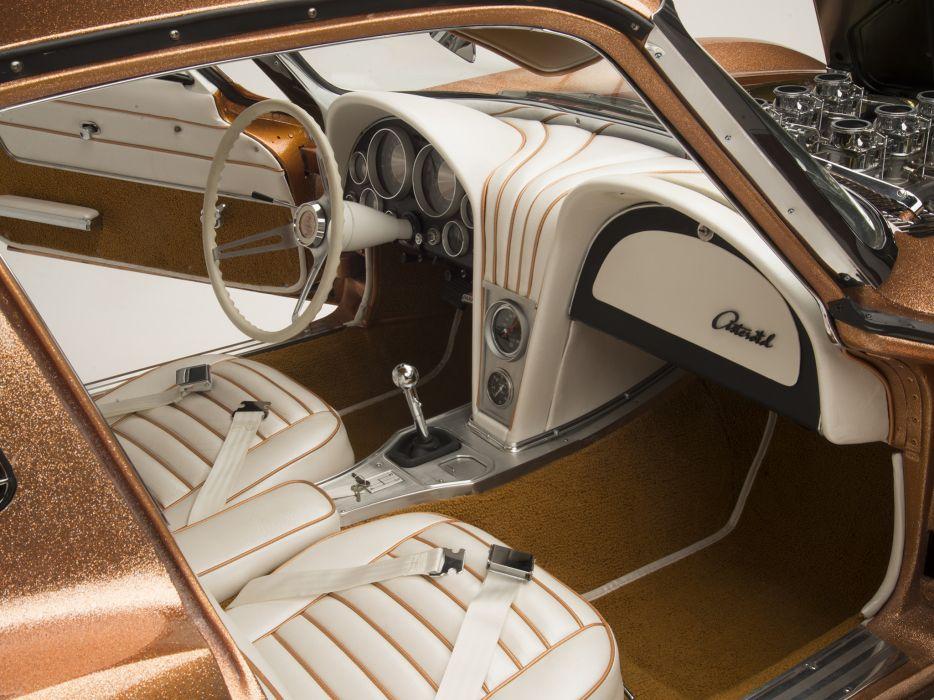 1963 Cherolet Corvette Asteroid Barris Kustom hot rod rods muscle classic custom supercar interior    g wallpaper