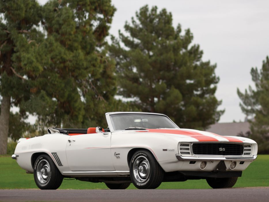 1969 Chevrolet Camaro RS-SS 396 Z11 Convertible Indy 500 Pace classic muscle r-s s-s race racing   f wallpaper