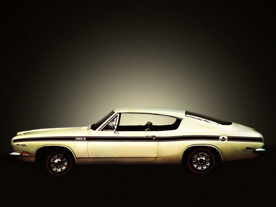 1969 Plymouth Barracuda Fastback (BH29) muscle classic     f wallpaper