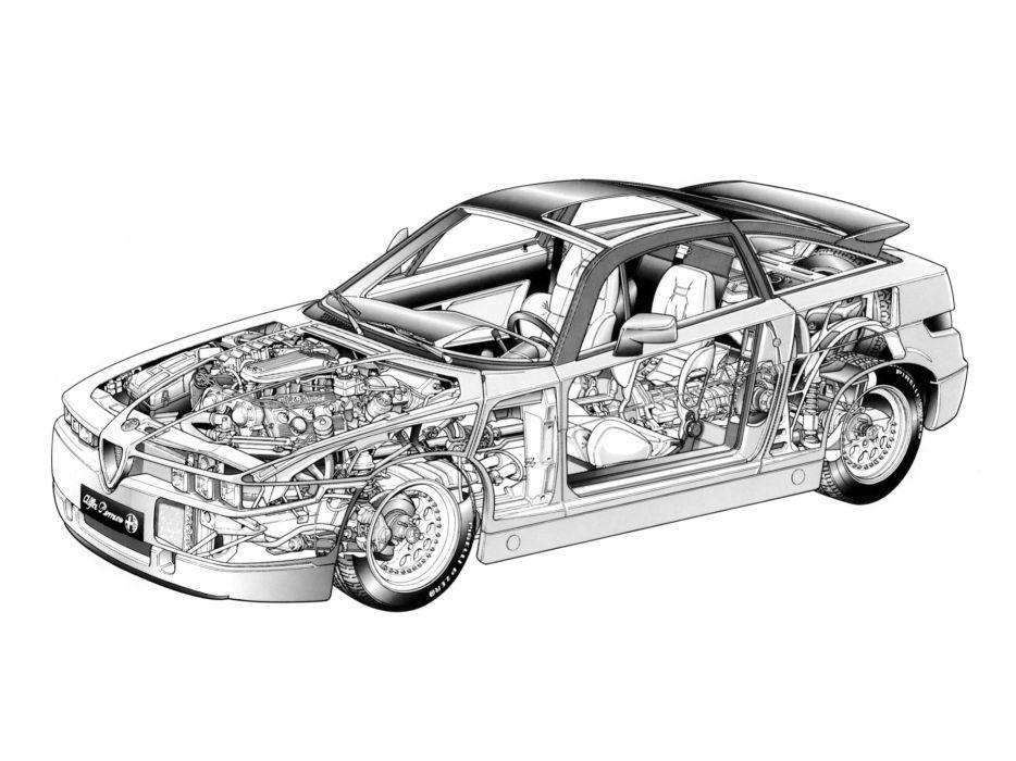 1989 Alfa Romeo ES 30 (162C) supercar e-s 3-0 tuning interior engine      g wallpaper