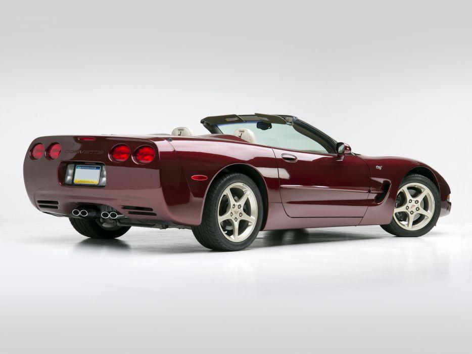 2002 Chevrolet Corvette Convertible 50th Anniversary (C5) supercar muscle   f wallpaper
