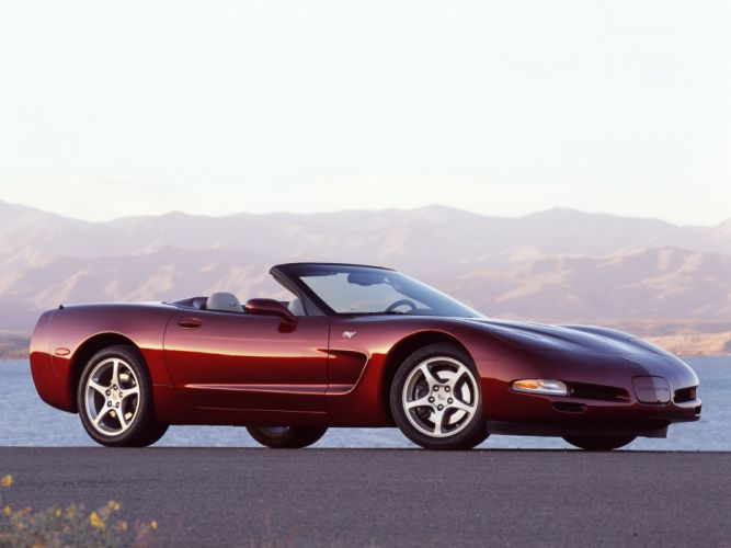 2002 Chevrolet Corvette Convertible 50th Anniversary (C5) supercar muscle t wallpaper