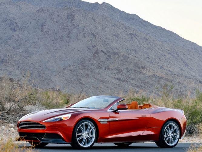2014 Aston Martin Vanquish Volante US-spec supercar fw wallpaper