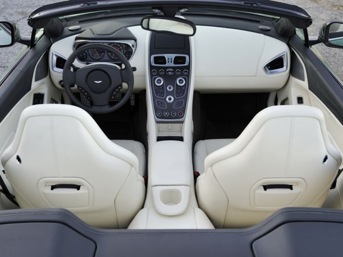 2014 Aston Martin Vanquish Volante US-spec supercar interior f wallpaper