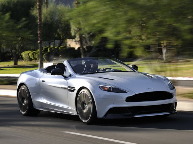 2014 Aston Martin Vanquish Volante US-spec supercar f wallpaper
