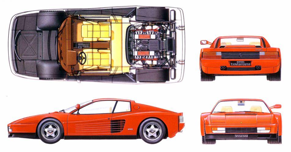 Ferrari Testarossa supercar ep wallpaper