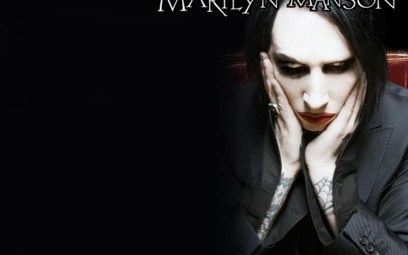 MARILYN MANSON industrial metal rock heavy shock gothic glam yg wallpaper
