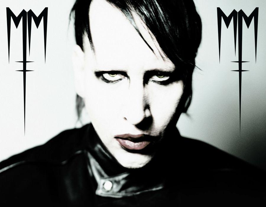 MARILYN MANSON industrial metal rock heavy shock gothic glam   ri wallpaper
