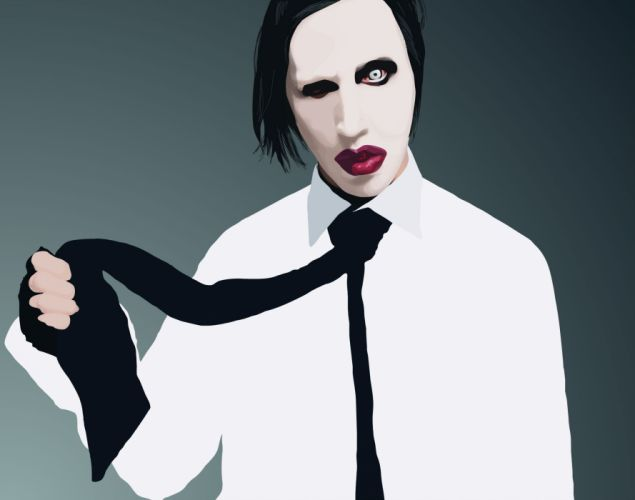 MARILYN MANSON industrial metal rock heavy shock gothic glam ye wallpaper