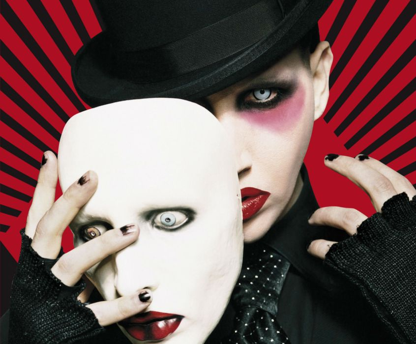 MARILYN MANSON industrial metal rock heavy shock gothic glam  ei wallpaper