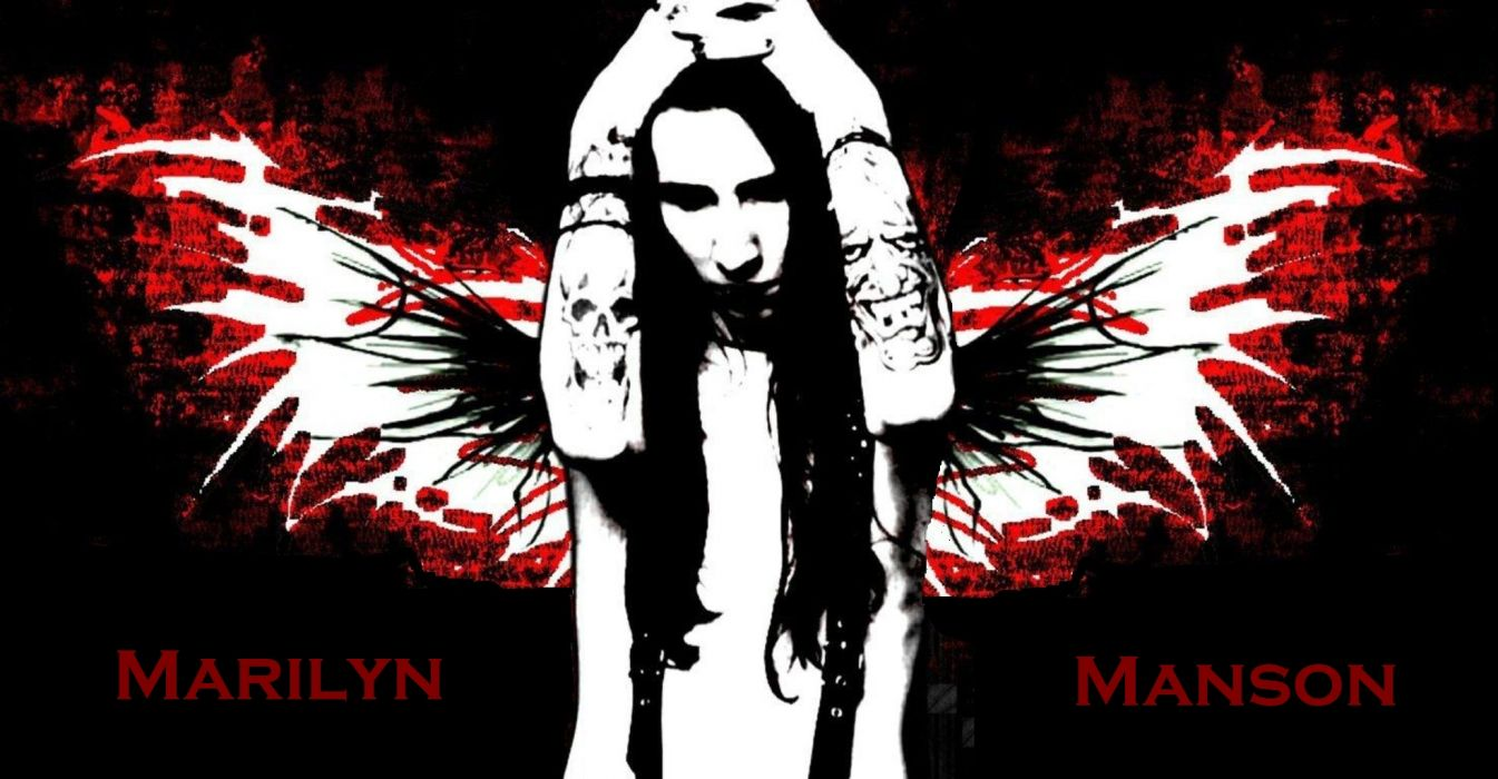 MARILYN MANSON industrial metal rock heavy shock gothic glam angel dark   g wallpaper