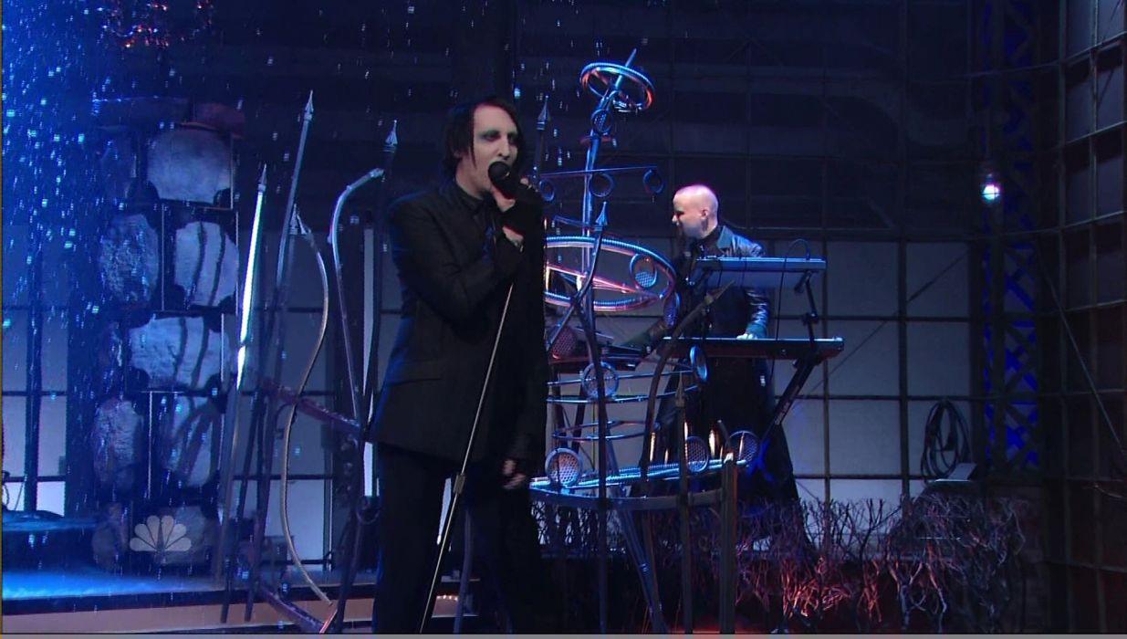 MARILYN MANSON industrial metal rock heavy shock gothic glam concert singer   hs wallpaper