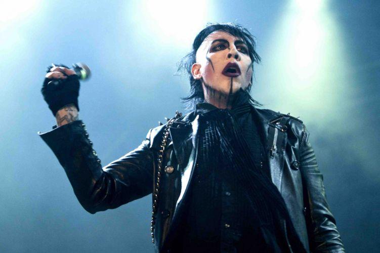 MARILYN MANSON industrial metal rock heavy shock gothic glam concert singer ty wallpaper