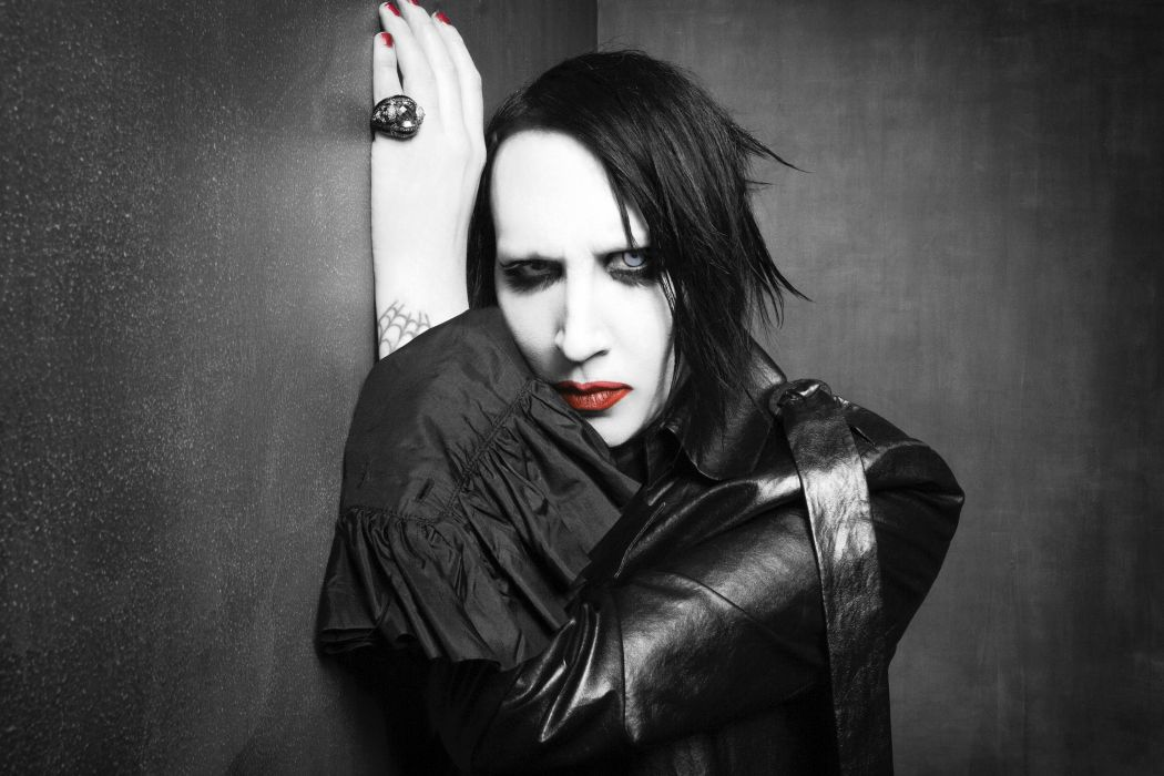MARILYN MANSON industrial metal rock heavy shock gothic glam dark g wallpaper