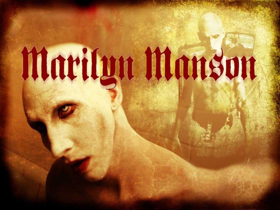 MARILYN MANSON industrial metal rock heavy shock gothic glam dark horror poster   f wallpaper