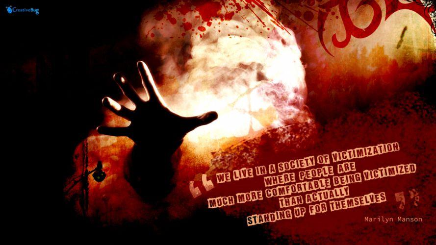 MARILYN MANSON industrial metal rock heavy shock gothic glam dark poster hs wallpaper