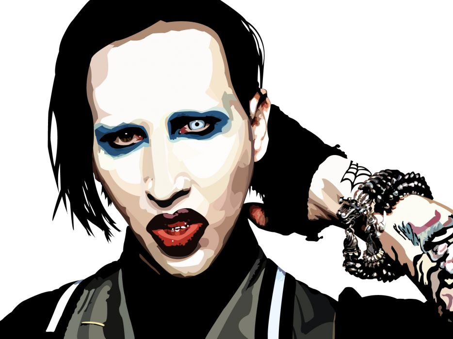 MARILYN MANSON industrial metal rock heavy shock gothic glam dark tattoo art     g wallpaper