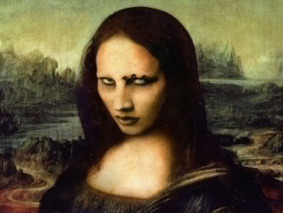MARILYN MANSON industrial metal rock heavy shock gothic glam mona lisa    f wallpaper