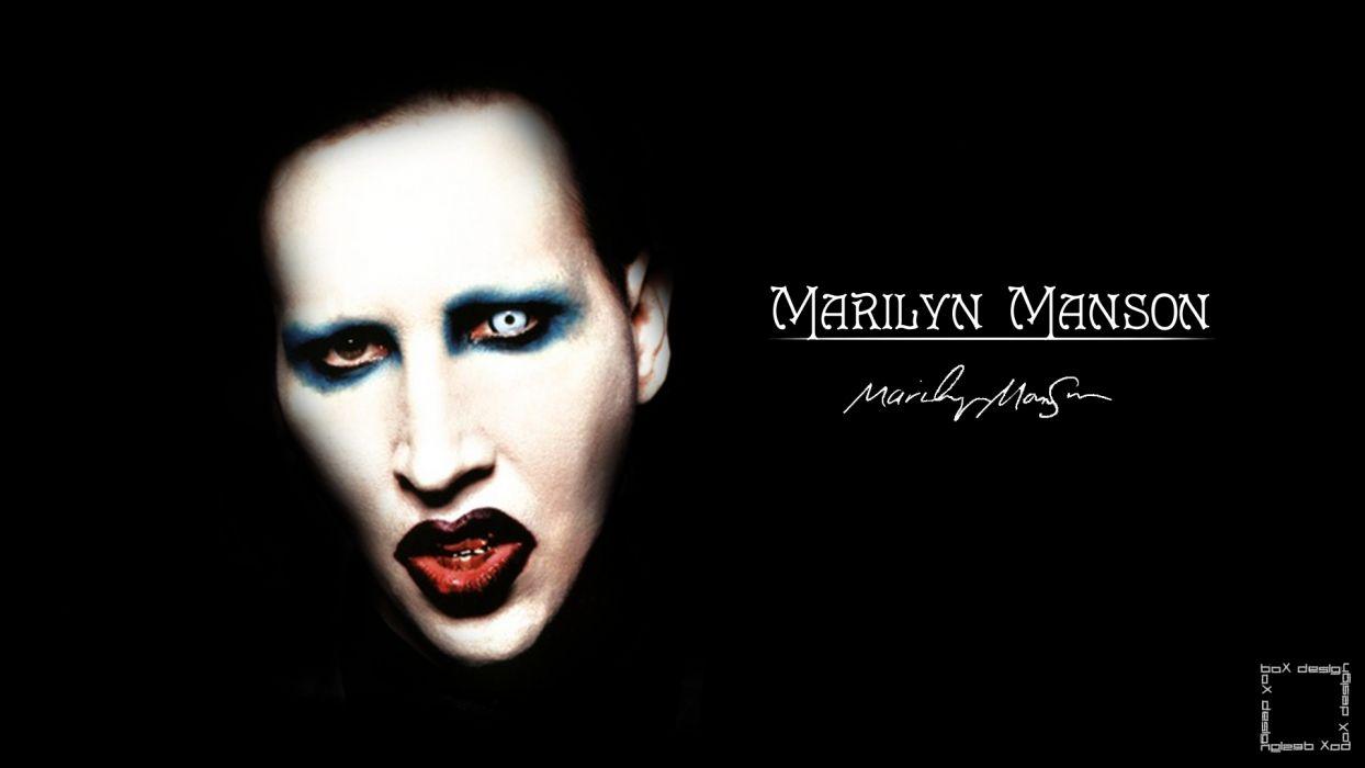 MARILYN MANSON industrial metal rock heavy shock gothic glam poster     g wallpaper