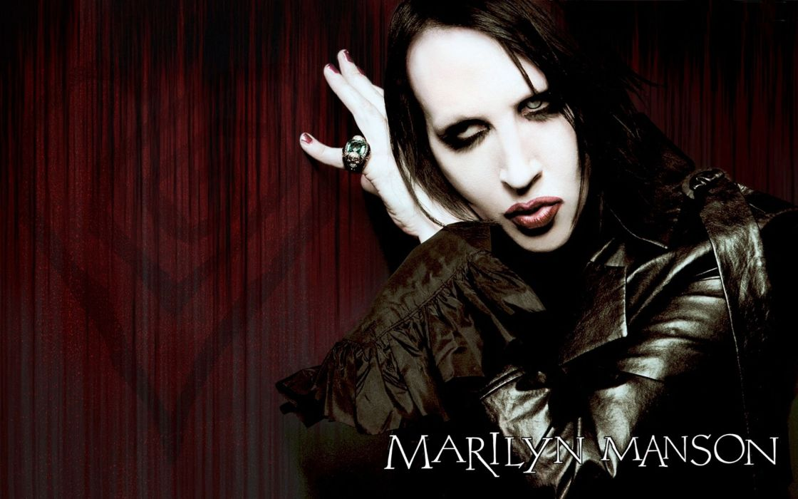 MARILYN MANSON industrial metal rock heavy shock gothic glam poster   gs wallpaper
