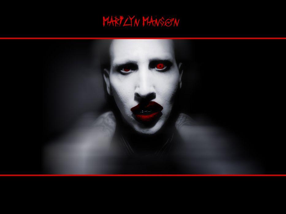 MARILYN MANSON industrial metal rock heavy shock gothic glam poster dark g wallpaper