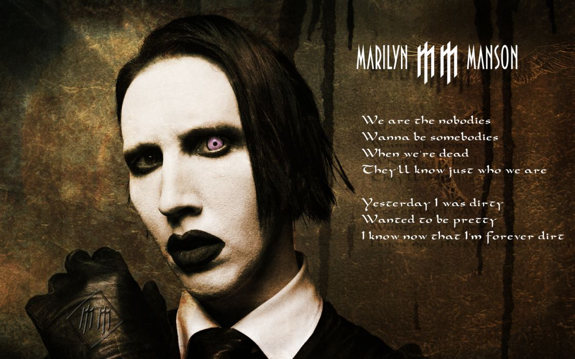 MARILYN MANSON industrial metal rock heavy shock gothic glam poster gs wallpaper