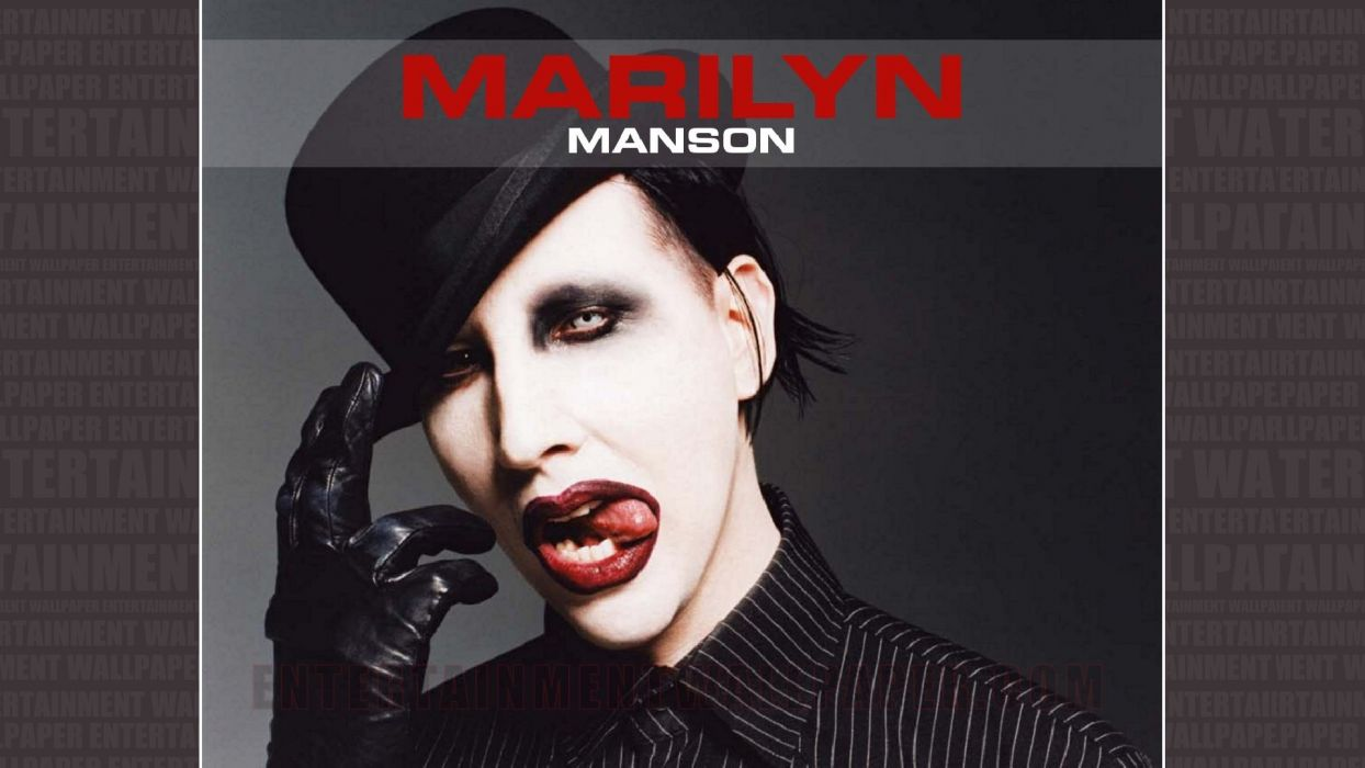 MARILYN MANSON industrial metal rock heavy shock gothic glam poster f wallpaper
