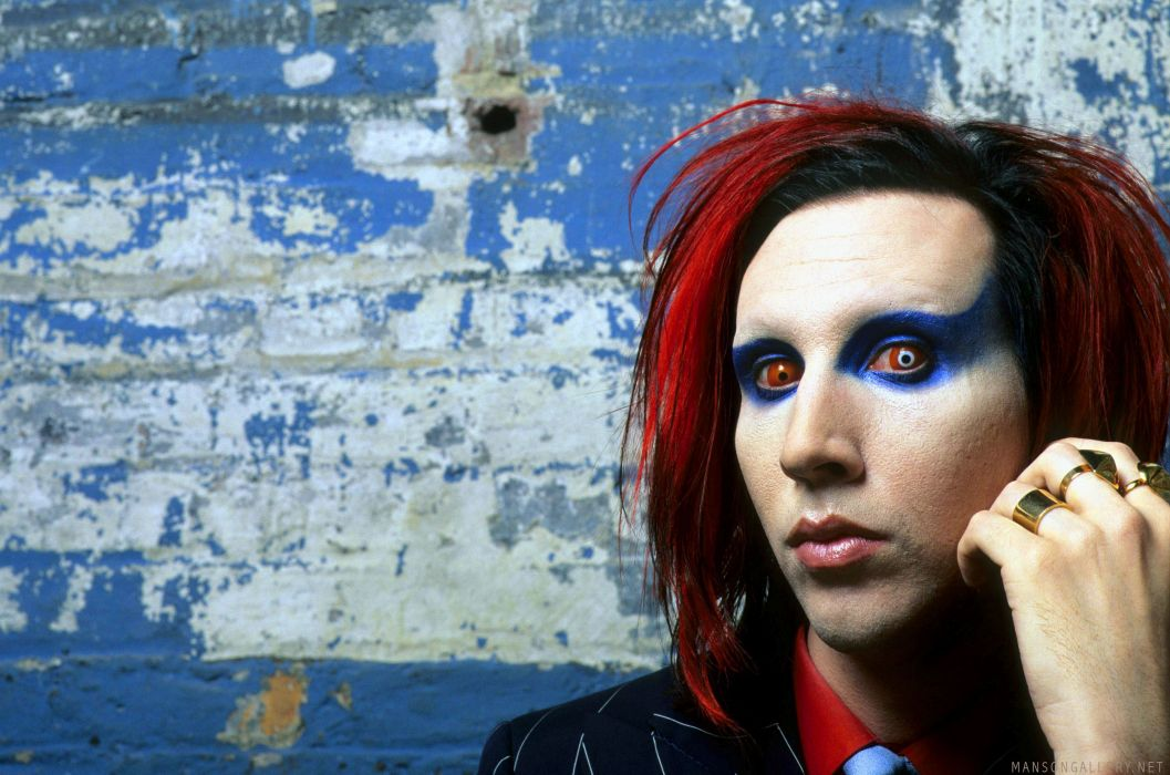 MARILYN MANSON industrial metal rock heavy shock gothic glam psychedelic   g wallpaper
