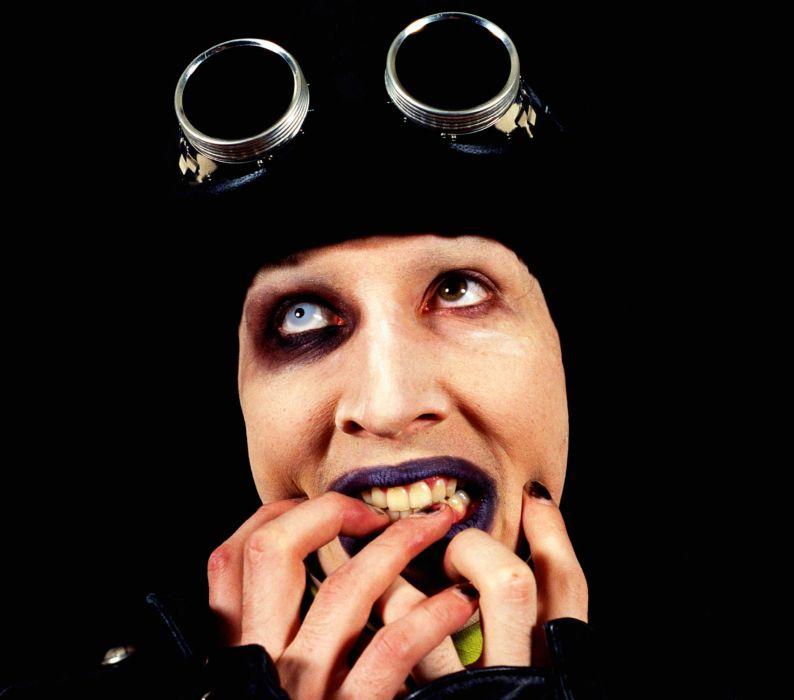 MARILYN MANSON industrial metal rock heavy shock gothic glam steampunk     te wallpaper