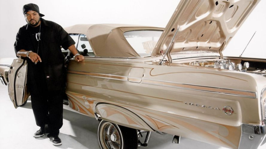 ICE CUBE gangsta rapper rap hip hop lowrider chevrolet impala custom f wallpaper