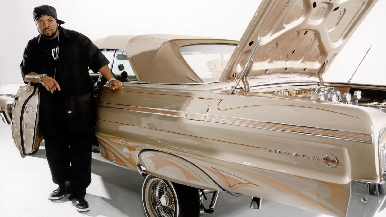 ICE CUBE gangsta rapper rap hip hop lowrider chevrolet impala custom      f wallpaper
