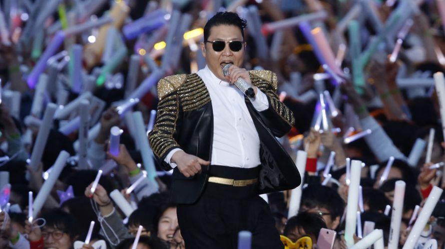 PSY gangnam style korean singer songwriter rapper dancer pop concert microphone rr wallpaper