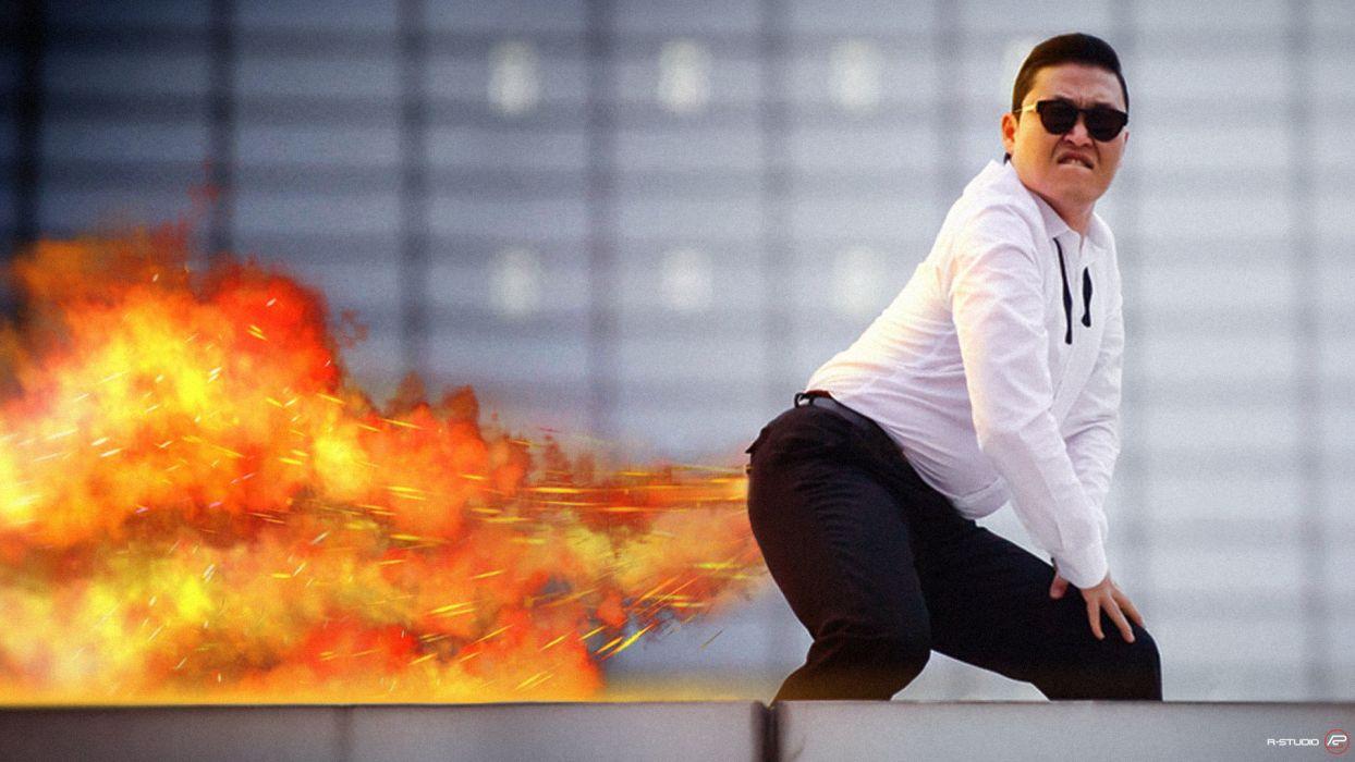 PSY gangnam style korean singer songwriter rapper dancer pop kpop fire      r wallpaper