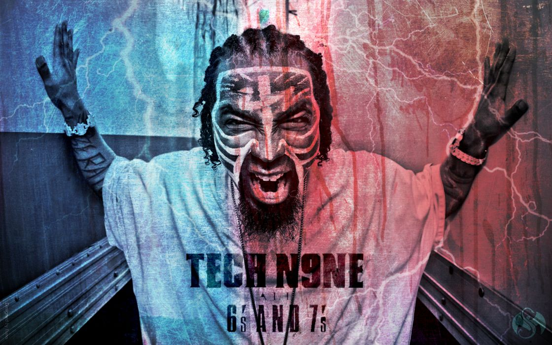 TECH N9NE gangsta rapper rap hip hop dark   f wallpaper