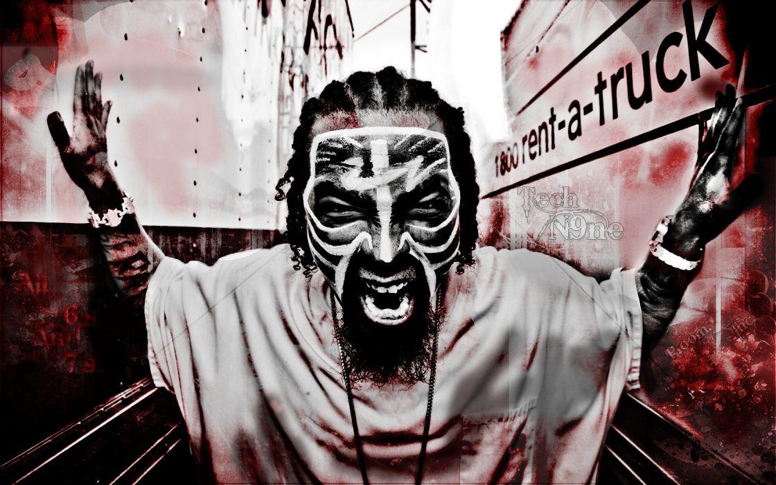 TECH N9NE Gangsta Rapper Rap Hip Hop Dark G Wallpaper