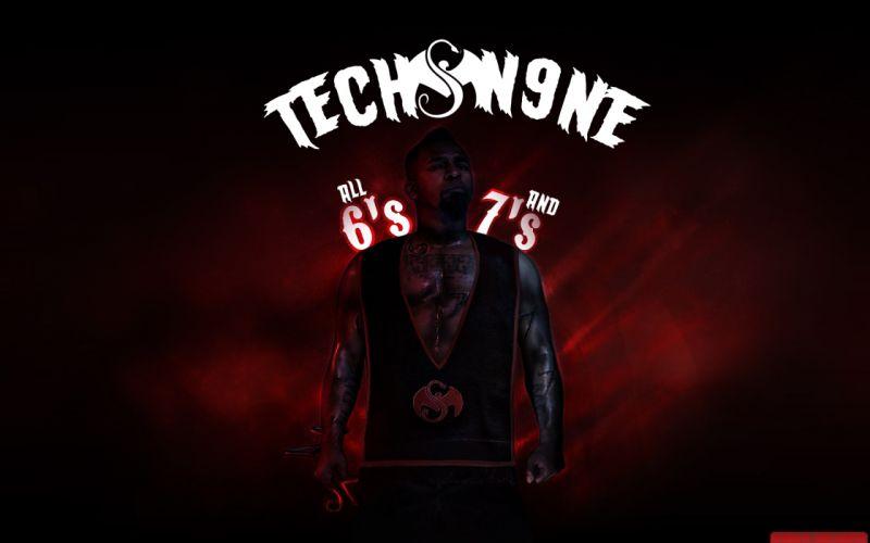 TECH N9NE gangsta rapper rap hip hop poster v wallpaper