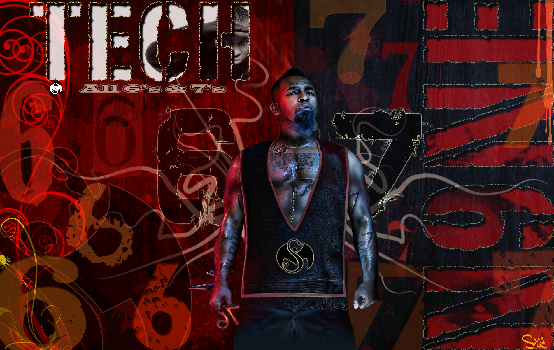 TECH N9NE Gangsta Rapper Rap Hip Hop Poster M Wallpaper