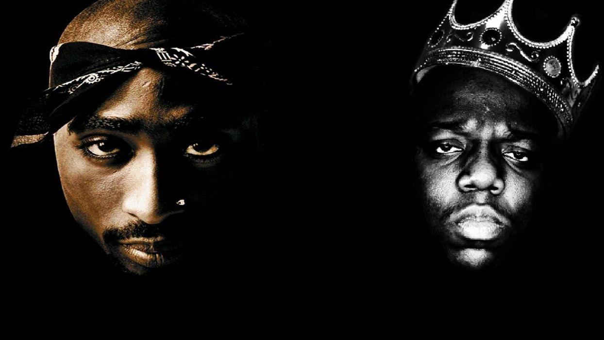 TUPAC BIGGIE SMALLS gangsta rapper rap hip hop       f wallpaper