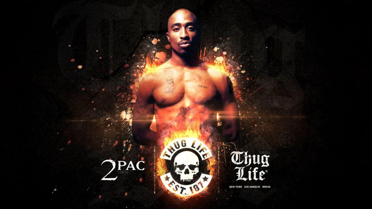 TUPAC gangsta rapper rap hip hop poster  re wallpaper
