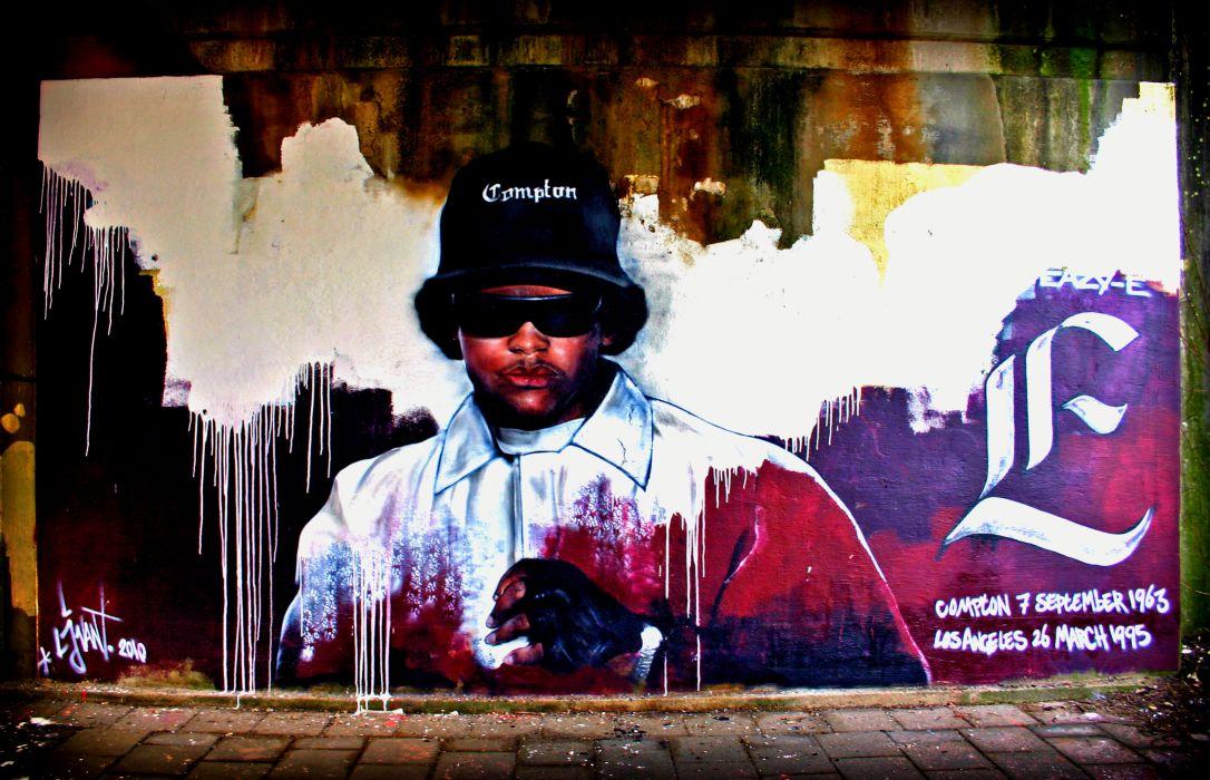 Eazy E Nwa Gangsta Rapper Rap Hip Hop Graffiti F Wallpaper